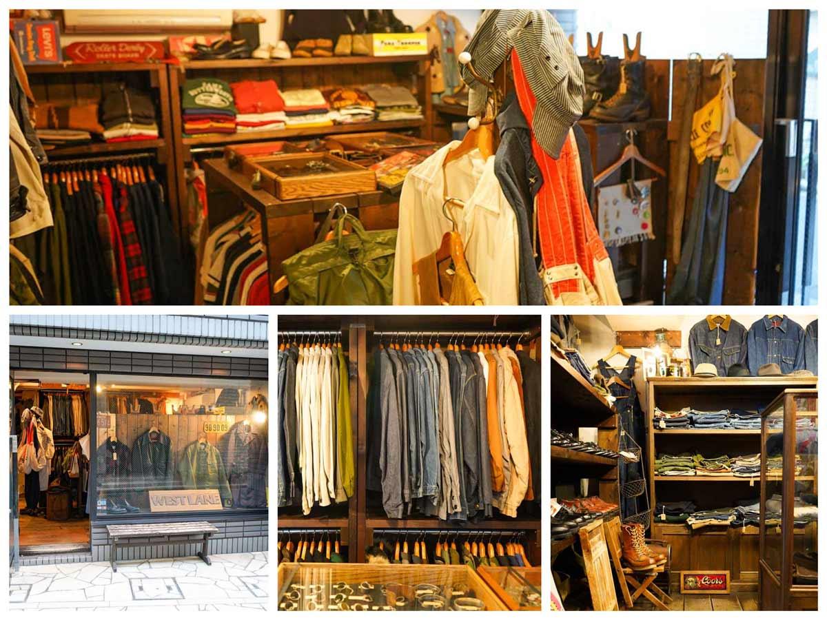 高円寺古着屋「WEST LANE(ウエストレーン)」Vintage clothing shop in Koenji Tokyo