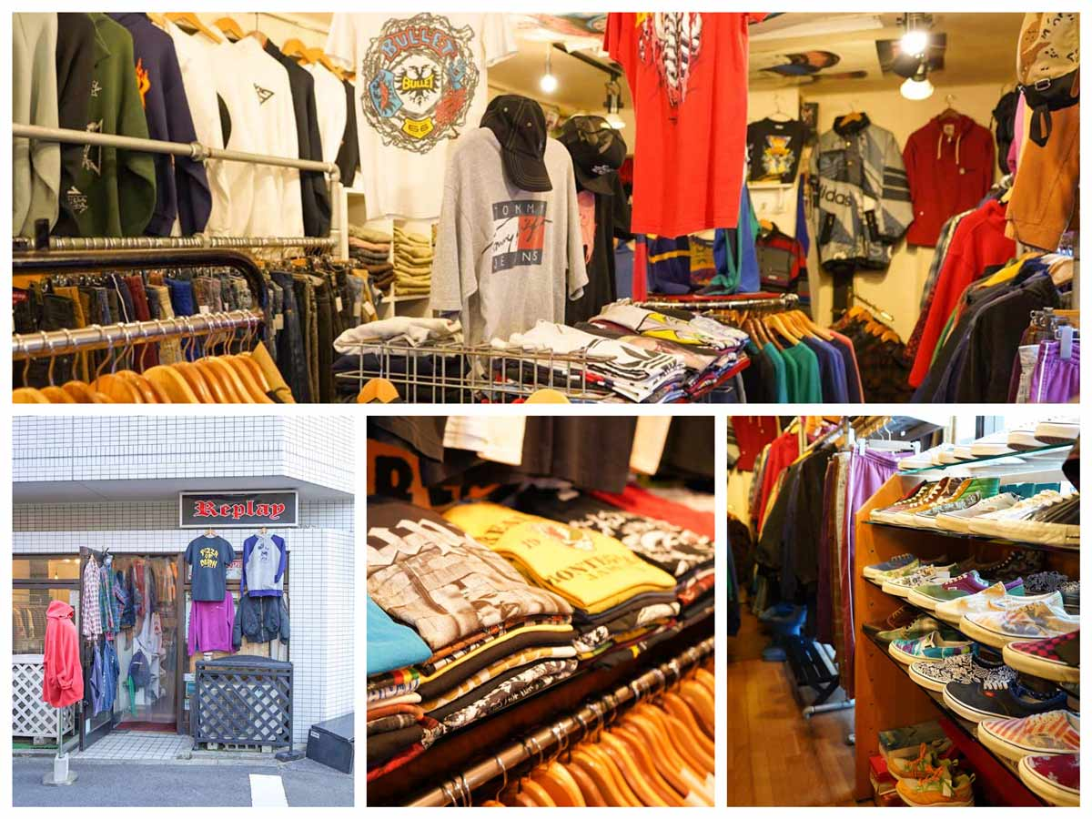 高円寺古着屋「Replay(リプレイ)」Vintage clothing shop In Koenji Tokyo